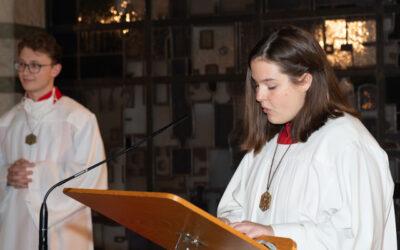 Ministranten verabschieden Paula Buchholz nach mehr als 10 Jahren als Messdienerin